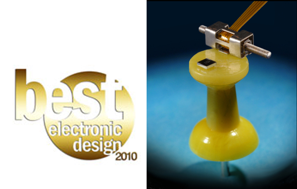 New Scale wins Best Electronic Design award for motors and motion control from Electronic Design magazine