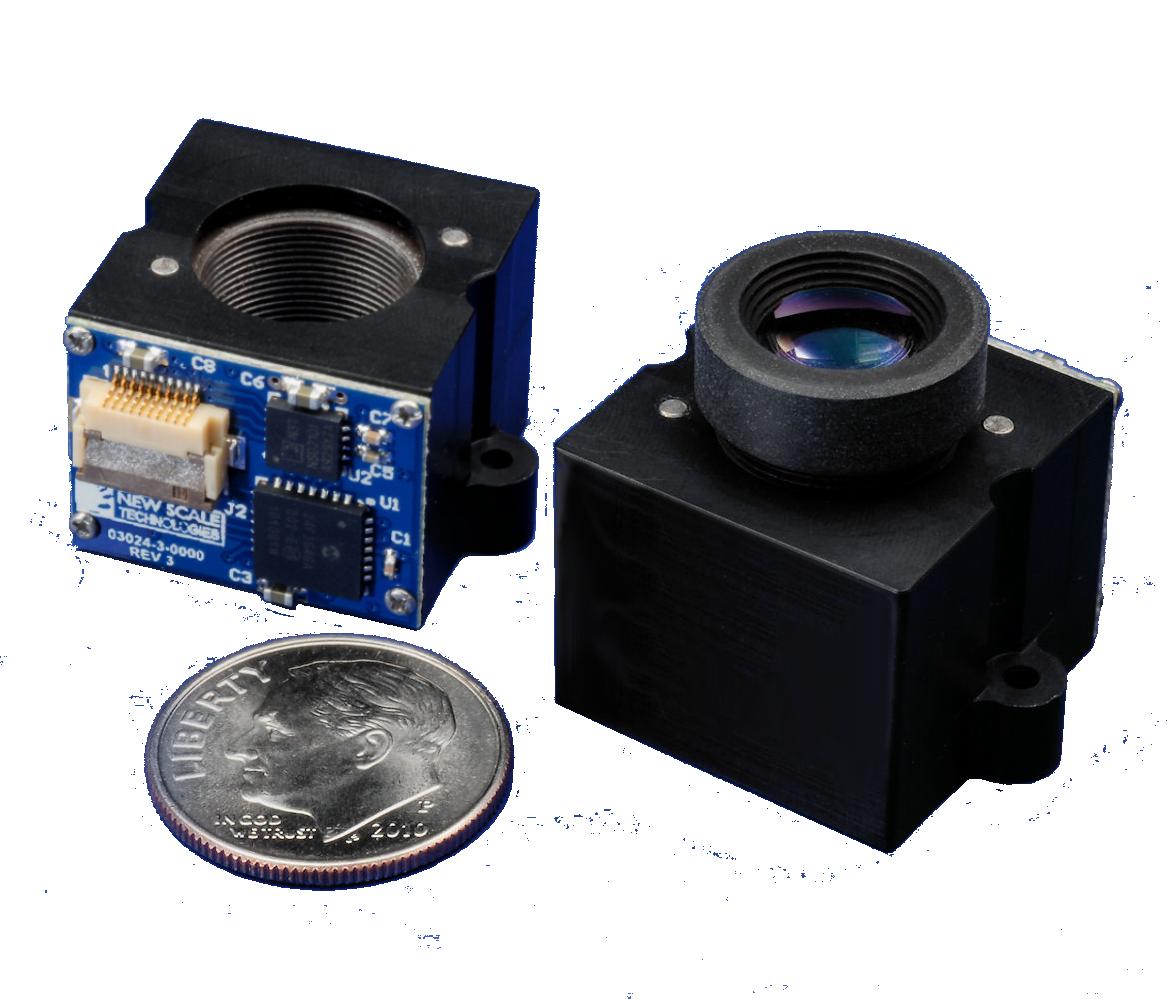 Miniature piezo focus module
