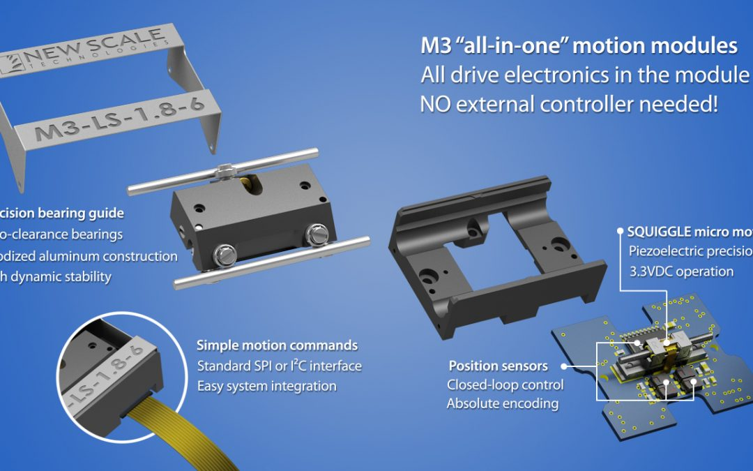 "New Scale Technologies introduces ""mechatronics on a fingertip"" with high resolution, low power use"