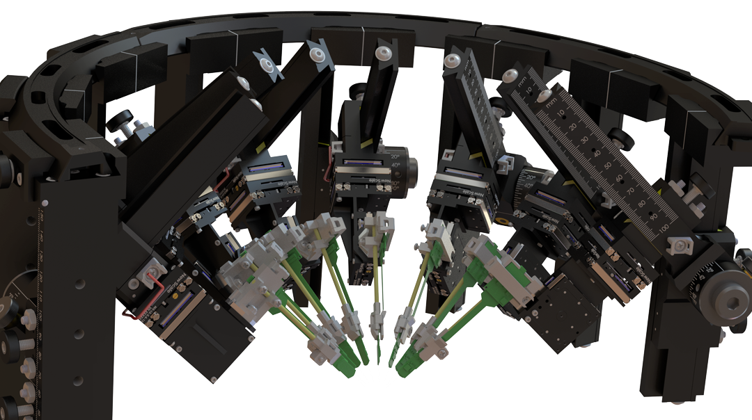 Neural probe manipulator with eight high-density silicon probes