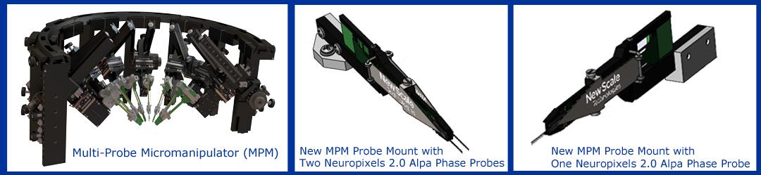 Manipulator mounting kit supports Neuropixels 2.0 probes