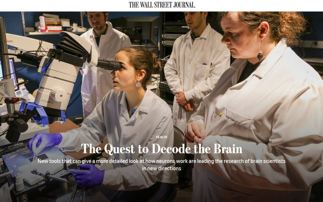 Neural probe positioning system featured in WSJ