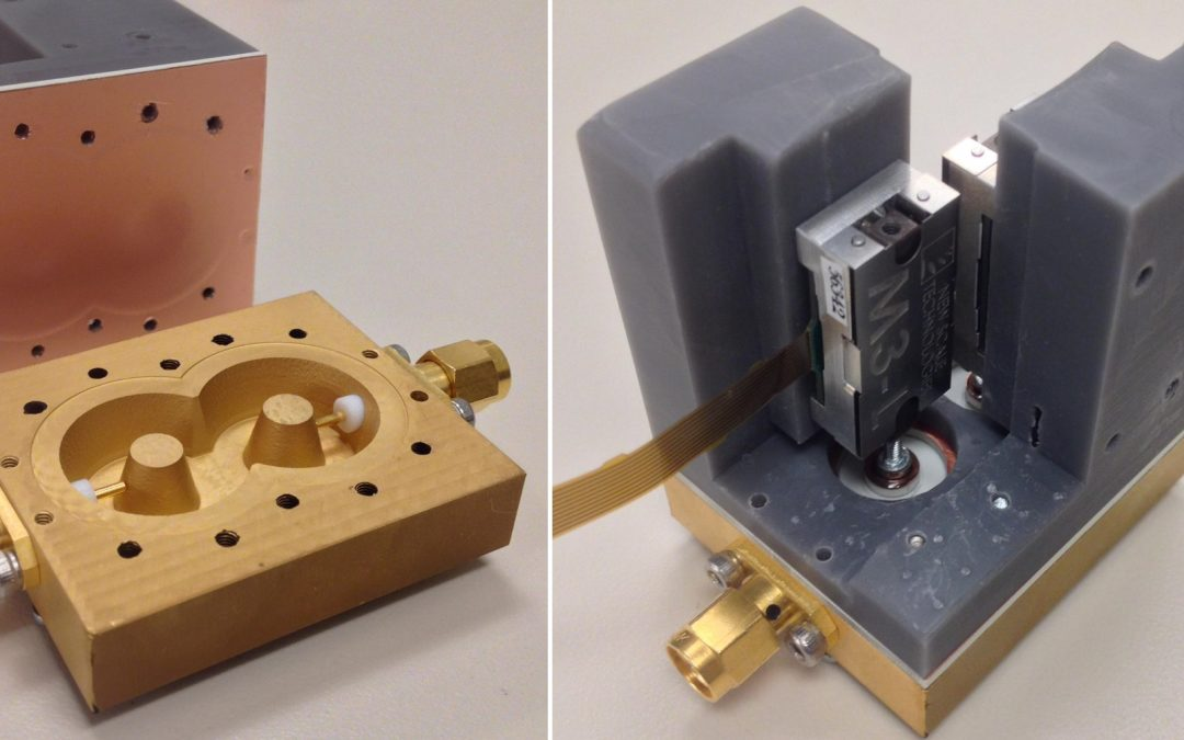 M3 actuator powers tiny high-Q tunable bandpass filter made from plastic